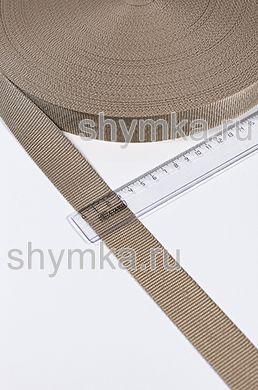 Лента ременная Tefi ширина 30мм ПЛОТНАЯ 17,5г/м БЕЖЕВАЯ