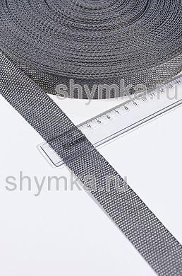 Лента ременная/окантовочная Tefi ширина 30мм ОБЛЕГЧЕННАЯ 12,5г/м СЕРАЯ