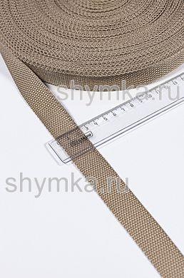 Лента ременная/окантовочная Tefi ширина 25мм ОБЛЕГЧЕННАЯ 10г/м БЕЖЕВАЯ