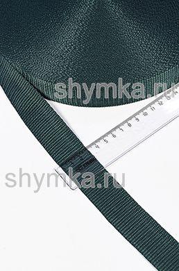 Лента ременная/окантовочная Тексширина 30мм плотность 15г/м ТЕМНО-ЗЕЛЕНАЯ №272