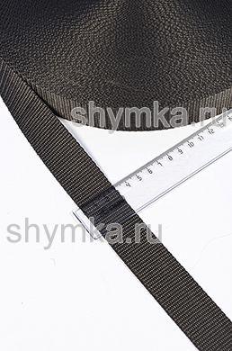 Лента ременная/окантовочная Текс ширина 30мм плотность 15г/м ОЛИВКОВО-СЕРАЯ №328
