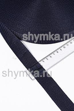 Лента ременная/окантовочная Текс ширина 30мм плотность 15г/м ТЕМНО-СИНЯЯ №330