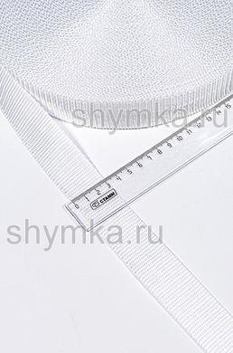 Лента ременная/окантовочная Текс ширина 30мм плотность 15г/м БЕЛАЯ №101