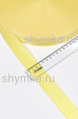 Лента ременная/окантовочная Текс ширина 30мм плотность 15г/м ЖЕЛТАЯ №110