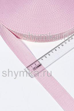 Лента ременная/окантовочная Текс ширина 30мм плотность 15г/м РОЗОВАЯ №134