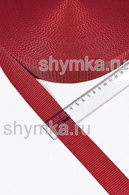 Лента ременная/окантовочная Текс ширина 30мм плотность 15г/м КРАСНАЯ №148