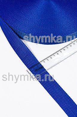 Лента ременная/окантовочная Текс ширина 30мм плотность 15г/м СИНЯЯ №213