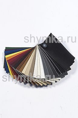 Catalog of Eco leather Oregon SLIM with perforation on foam rubber 3mm and backing