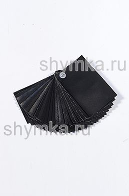 Catalog of eco leather BLACK in canvas (without eco microfiber leather)