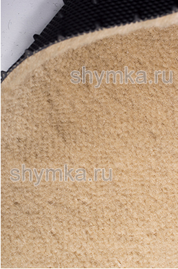 Ковролин на термопластичной резине UPP ворс 6мм резина 2мм БЕЖЕВЫЙ ширина 1,5м
