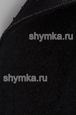 Ковролин на термопластичной резине UNF ворс 3мм резина 2мм ЧЕРНЫЙ ширина 1,5м
