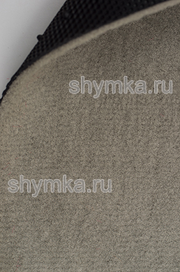 Ковролин на термопластичной резине UPА ворс 6мм резина 2мм СЕРЫЙ ширина 1,5м