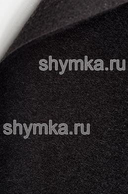 Ковролин обивочный ворс 4мм ЧЕРНЫЙ латексированный ширина 1,5м