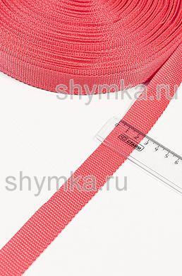 Лента ременная/окантовочная Poli ширина 25мм плотность 12г/м КРАСНАЯ