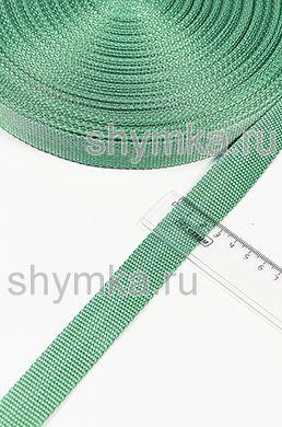 Лента ременная/окантовочная Poli ширина 25мм плотность 12г/м СВЕТЛО-ЗЕЛЕНАЯ