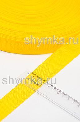 Лента ременная/окантовочная Poli ширина 30мм плотность 14,5г/м ЖЕЛТАЯ
