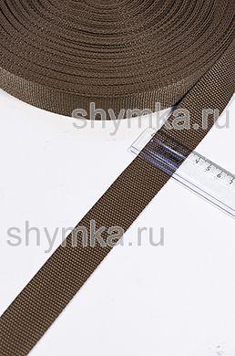 Лента ременная/окантовочная Poli ширина 30мм плотность 14,5г/м КОРИЧНЕВАЯ