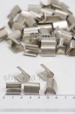 Клипса металлическая для фиксации окантовочной ленты