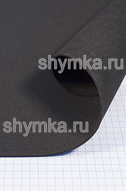 Материал ЭВА гладкий ЧЕРНЫЙ толщина 2мм лист 1х1,8м твердость 55 Шор