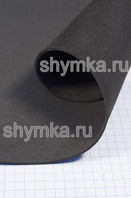 Материал ЭВА гладкий ЧЕРНЫЙ толщина 3мм лист 1х1,8м твердость 55 Шор