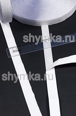 Лента контактная Липучка на клеевой основе БЕЛАЯ ТОЛЬКО КРЮЧОК ширина 20мм ВНИМАНИЕ НА КЛЕЮ!!!
