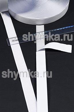 Лента контактная Липучка на клеевой основе БЕЛАЯ ТОЛЬКО ВОРС ширина 25мм ВНИМАНИЕ НА КЛЕЮ!!!