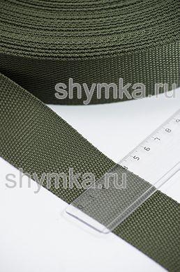 Лента ременная/окантовочная Tefi ширина 40мм плотность 19,5г/м ХАКИ
