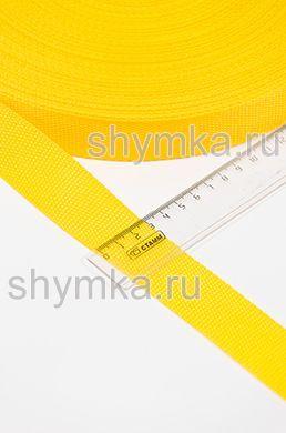 Лента ременная/окантовочная Tefi ширина 30мм плотность 14,5г/м ЖЕЛТАЯ