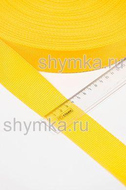 Лента ременная/окантовочная Tefi ширина 40мм плотность 19,5г/м ЖЕЛТАЯ