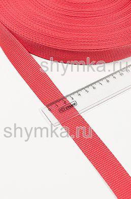 Лента ременная/окантовочная Tefi ширина 25мм плотность 12г/м КРАСНАЯ