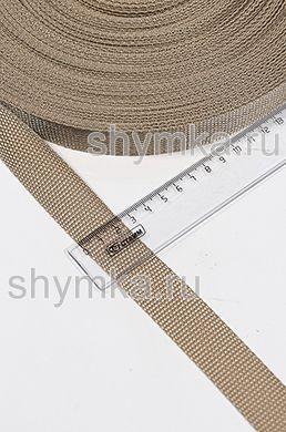 Лента ременная/окантовочная Tefi ширина 25мм плотность 12г/м БЕЖЕВАЯ