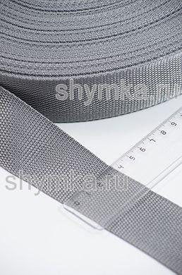 Лента ременная/окантовочная Tefi ширина 40мм плотность 19,5г/м СЕРАЯ
