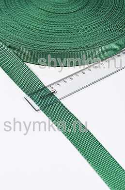 Лента ременная/окантовочная Tefi ширина 25мм плотность 12г/м ЗЕЛЕНАЯ