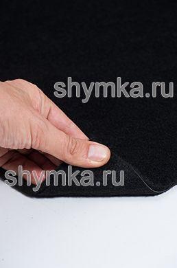 Ковролин трехслойный ворс 5мм подложка 1мм ЧЕРНЫЙ ширина 1,9м