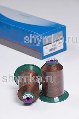 Нитки Synton 20 намотка 600м цвет 0185 ШОКОЛАДНО-БЕЖЕВЫЙ