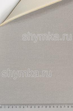 Велюр на поролоне с подложкой СЕРЫЙ ширина 1,4м толщина 6мм