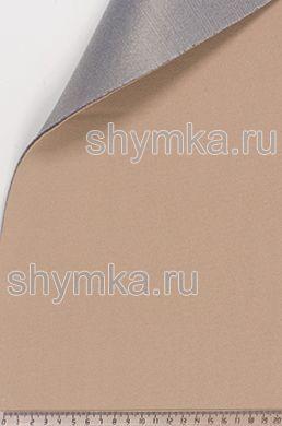 Потолочный велюр на поролоне на сетке БЕЖЕВЫЙ толщина 3мм ширина 1,8м