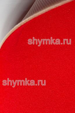 Велюр на поролоне с подложкой КРАСНЫЙ ширина 1,4м толщина 3мм