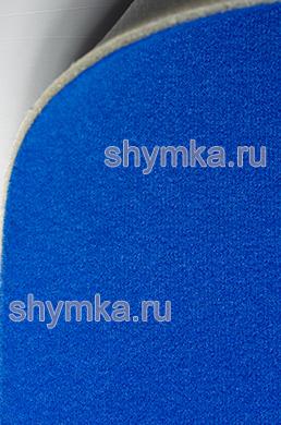Велюр на поролоне с подложкой СИНИЙ ширина 1,4м толщина 3мм