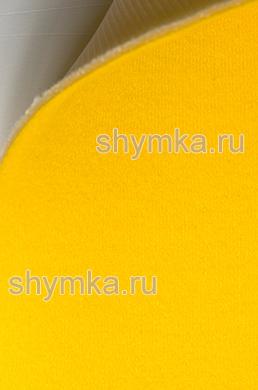 Велюр на поролоне с подложкой ЖЕЛТЫЙ ширина 1,4м толщина 3мм