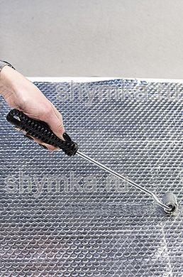 Ролик прикаточный металлический диаметр 23мм ширина 30мм ДЛИННАЯ пластиковая ручка
