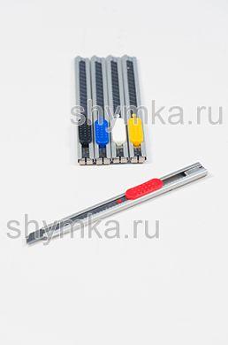 Нож для плёнок CUTTER ЦВЕТНОЙ ширина лезвия 9мм угол кончика лезвия 60°