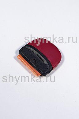 Скребок мини ЧЕРНО-КРАСНЫЙ с пластиковым лезвием