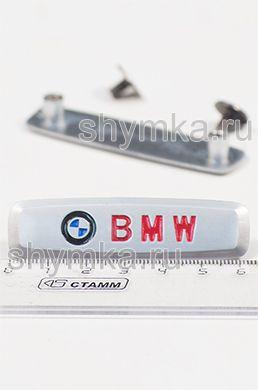 Шильдик металлический МАТОВЫЙ для автоковриков BMW ЦВЕТНОЙ + 2 болтика