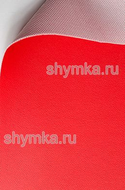 Винилискожа Аква гладкая ЯРКО-КРАСНАЯ ширина 1,4м толщина 0,9мм