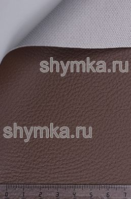 Винилискожа Аква структурная КОРИЧНЕВАЯ-1 ширина 1,4м толщина 0,9мм